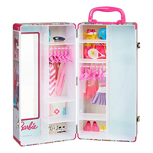 Theo Klein 5801 - Barbie Valigia Armadio Con Attaccapanni