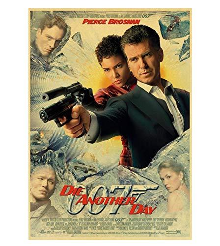 PCWDEDIAN Vintage James Bond Filmplakat 007 Retro Leinwand Wandplakat Für Zuhause/Raum/Bar Gemälde Wanddekoration F131 40X60Cm