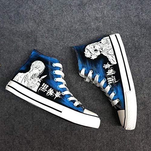 pZgfg Canvas Shoes Japanese Black Butler Cosplay Sebastian Michaelis Canvas Schuhe High Help Student Schuhe 42