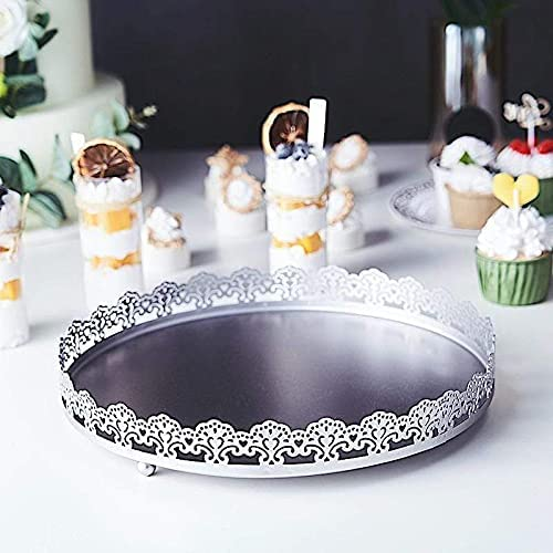 Balsa Circle Silver Low price 12 in Round Decorative security with Trays Em Serving