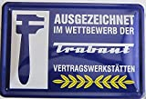 vielesguenstig-2013 Blechschild Schild 20x30cm - Trabant Vertragswerkstätten Werkstatt Trabi Rennpappe DDR Ostalgie