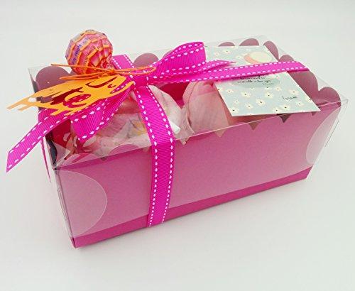 Cadeau très original pour les nouveau-nés: corps, capuchon et couche-culotte en forme de cupcakes | Taille 1-6 mois | 100% coton | Tout est BRAND | Pour les filles