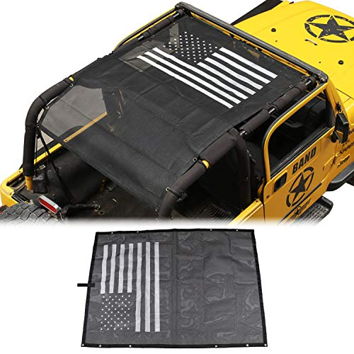 American Flag Sunshade Mesh Bikini Top Sun Shade UV Protection for Jeep Wrangler TJ 1997-2006