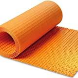 """Ditra Heat Membrane Dimensions 3' 3"""" x 41' 1"""" 134.5 sq ft Roll 1/4"""" (5.5 mm) Thickness UNCOUPLING FLOOR MEMBRANE"""