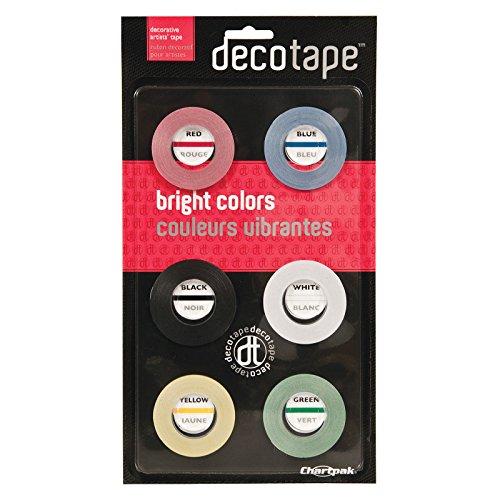 Chartpak DEC001 Deco Bright Decorative Tape, 1/8