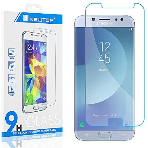 N NEWTOP [1 Pezzo] Pellicola GLASS FILM Compatibile per Samsung Galaxy J3 2017, Fina 0.3mm Durezza 9H in Vetro Temperato Proteggi Schermo Display Protettiva Anti Urto Graffio Protezione
