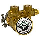Fluid-o-Tech Lead Free Brass Rotary Vane Pump with Brass Key 105 gph 3/8 NPT