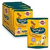Pedigree Tasty Minis Premios para Perros Cachorros Sabor Pollo (Pack de 6 x 125g)