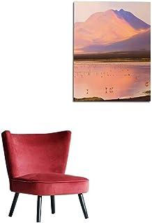 Wall Picture Decoration Impressive Laguna colorada at Sunset - Red Lake Reflection Andean Flamingos Birds and Idyllic Altiplano Atacama Desert Volcanic Landscape Panorama – Potosi regiomural 24