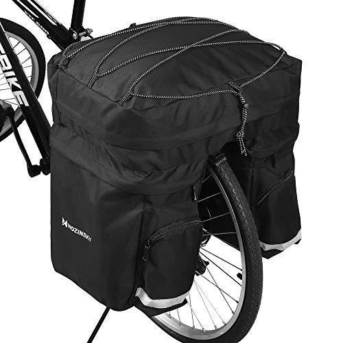 WOZINSKY Fahrrad Fahrradtasche Gepäckträger Gepäckträgertasche Reisetasche Tasche 60L mit Regenschutz