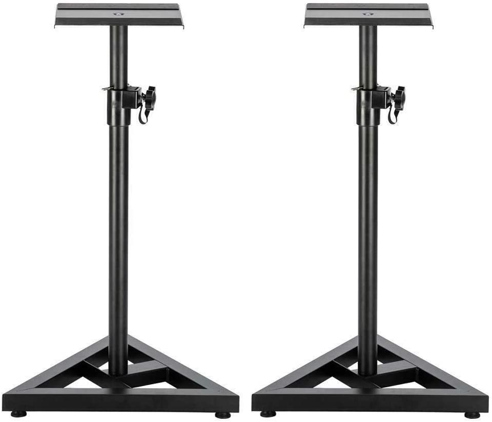 LCSA 2X Cheap mail order specialty store Heavy Duty Studio Stands 1 Speaker Adjustable Ranking TOP6 Pair