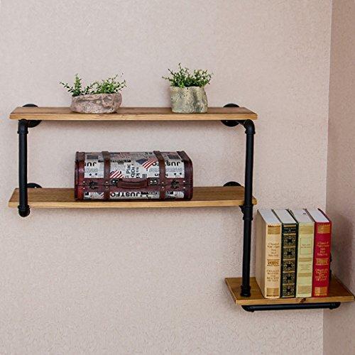 Cdbl Wandplank Retro Industriële Stijl IJzer Water Pijp Boekenkast Bloemenrekken Home Bar Muur Decoratieve Plank