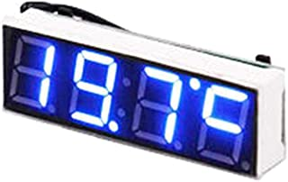 RUNGAO 3-in-1 Car Vehicle Digital Tube LED Voltmeter Thermometer Time Automobile Table Clocks Dial Electronic Clock Blue