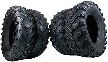 MASSFX MS ATV/UTV Tires 25x8-12 Front & 25x10-12 Rear, Set of 4 25x8x12 25x10x12