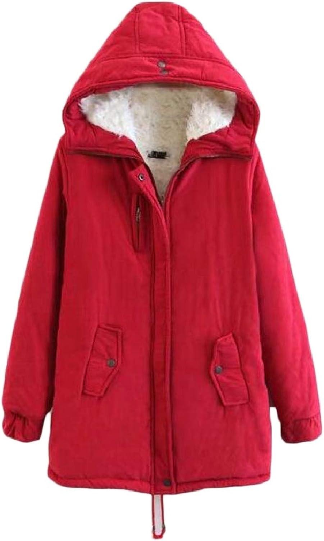 Womens Winter Warm Thicken Hooded Jacket Parka Coat Outwear