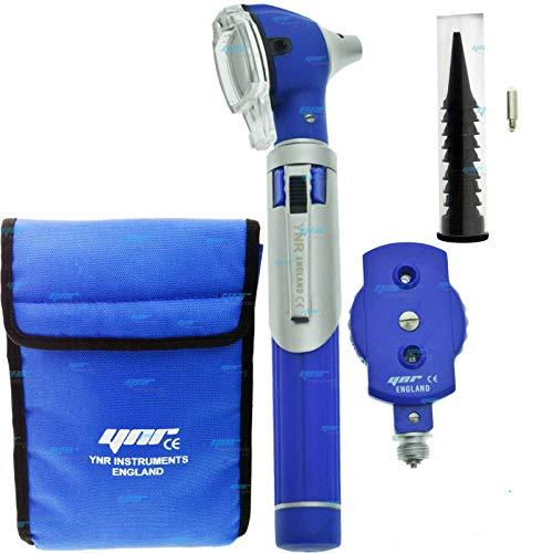 Ynr England® F. o Mini Otoscopio Auriscope Fibra Óptica Ent Médico Examen Diagnóstico Nhs Gp Marca Ce Aprobado Nuevo - Azul