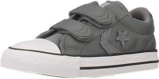 zapatillas niño converse velcro gris