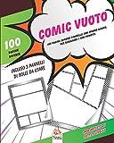 Comic vuoto: 100 pagine (diversi pannelli) con sfondo comico (trama), per disegnare i tuoi fumetti. Per artisti di tutti i livelli
