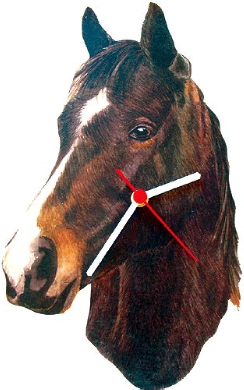 Intrepid International Dark Bay Quarterhorse Horse HeadShaped Clock