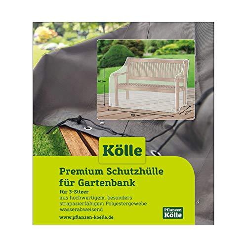 Kölle Premium Schutzhülle für Gartenbank, UV-beständig, stabil, PVC 3-Sitzer