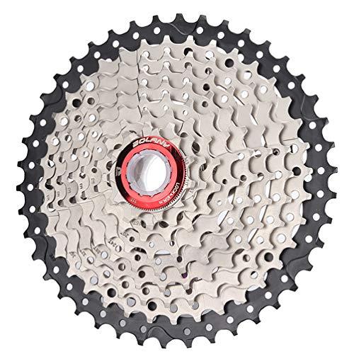 YUONG Rueda Libre de 9 velocidades para Bicicleta de montaña Cassette de 9 velocidades relación de Engranaje 11-40T MTB Rueda de Volante Bicicleta de Carretera Shimano Sram