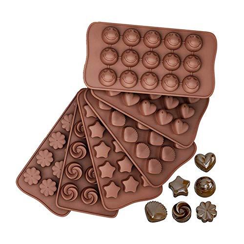 Feliciay - Paquete De 6 Moldes De Silicona Para Caramelos Y Chocolate,...