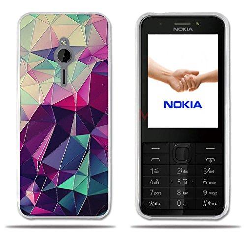 FUBAODA für Nokia 230 Hülle, [Bunte Box] Transparente Silikon TPU Fashion Kreatives Design Anti-Scratch Smart Schutz Stilvolle Silikon Slim Fit Shockproof Flexibel für Nokia 230