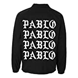 Yeezus Black and White Paris Pablo Coach Jacket - Paris...