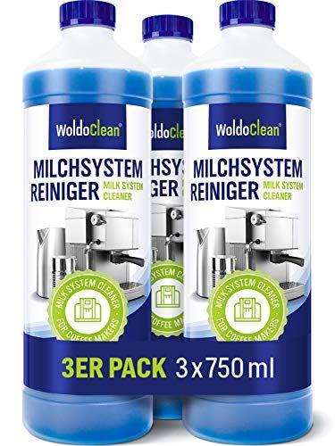 WoldoClean Milchsystem Reiniger Konzentrat 3x 750ml - kompatibel mit Melitta, Jura, Miele uvm.