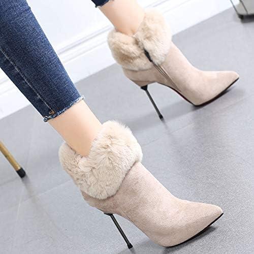 HRCxue zapatos de la Corte botas de tacón Alto para mujer, botas Martin, zapatos de mujer, 38, Caramelo