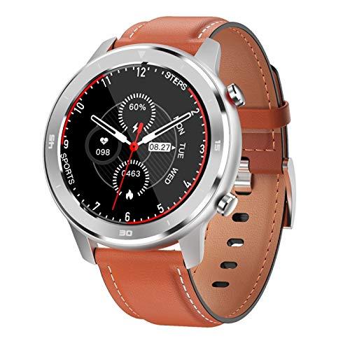 FUNSHINNY 1.3 Pulgadas Círculo Completo Táctil Full Smart Sport Watch Rastreadores de Fitness IP68 Impermeable, Soporte Monitoreo de frecuencia cardíaca en Tiempo Real/Monitoreo del sueño/Bluetoot