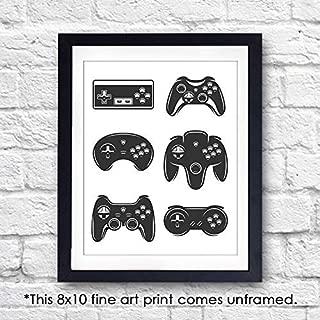 Video Game Wall Art Print - Unframed - 8x10