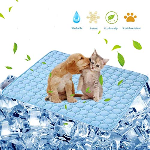 JNNELSN Pet Cooling Mat Cat Dog Cushion Cooling Sleep Pad Summer Cool Down Blanket Keep Pets Cool & Comfortable,it's Your Dog Best choose39.527.5inche