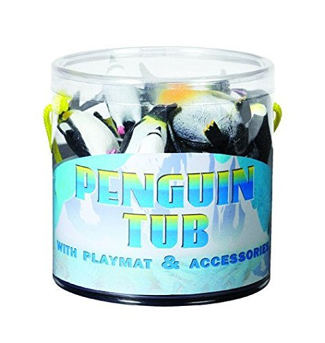 Warm Fuzzy Toys Penguin Tub Figurines with Playmat
