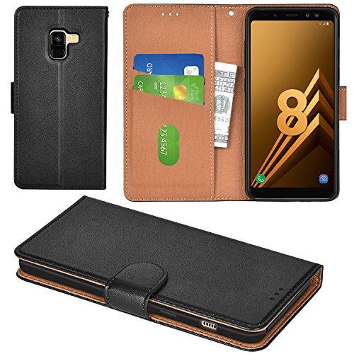 Aicoco Galaxy A8 2018 Hülle Schutzhülle Tasche Flip Hülle für Samsung Galaxy A8 2018 Handyhülle - Schwarz