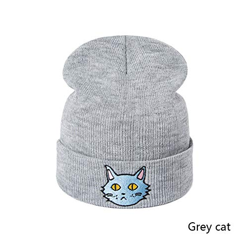 Muts merk Mooie vos kat patroon hoed vrouwen gebreide winter hoed mode scullies mutsen vrouwen meisjes wol winter dikke kap