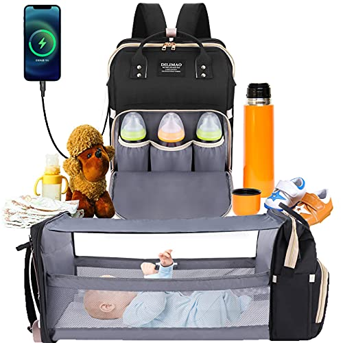 Diaper Bag Backpack - with Changing Station HKZ 5 in 1 Baby Diaper Bags for...