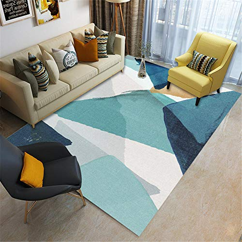 protector suelo silla ruedas alfombras de gateo Sala de estar alfombra azul decoración moderna del dormitorio a prueba de humedad y antideslizante alfombras pasillo modernas 200X300CM 6ft 6.7'X9ft 10.