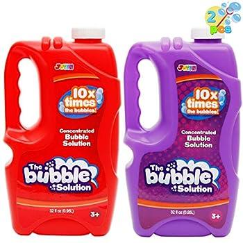 JOYIN 2 Pcs Bubble Solution Refill 32 Ounce  0.95L  for Bubble Machine Bubble Gun Party Favor Bubble Summer Toy