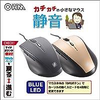 OHM 静音5ボタンマウス BAB 黒・PC-SMCBAB-K