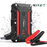 YABER Car Jump Starter,1200A Peak 15000mAh Battery Jump Starter (up to 7.5L Gas/6.0L Diesel Engine),IP68 Waterproof Portable Power Pack with QC3.0 Ports and LED Light,12V Auto Battery Booster