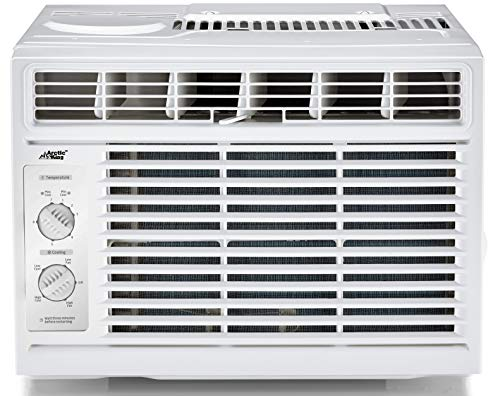 Arctic King Window Air Conditioner with Mechanical Controls, 5,000 BTU Mini Compact Air Conditioner for 150 Sq.ft Room, WWK05CM01N