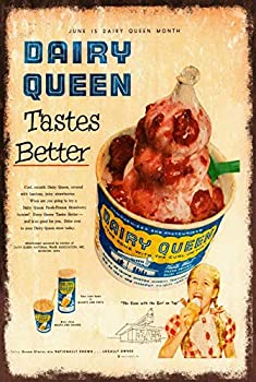 Dairy Queen Ice Cream Metal Tin Sign 12x16 Inch Decor