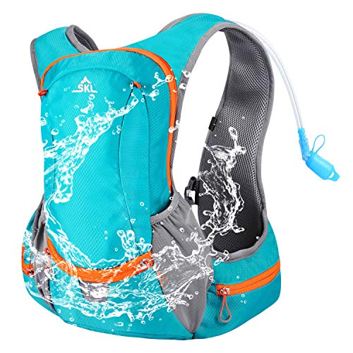 SKL Hydration Pack Water Running Backpack with Bladder 2L BPA Free Hydration Backpack for Running Cycling Biking Hiking Climbing Skiing Hunting Pouch