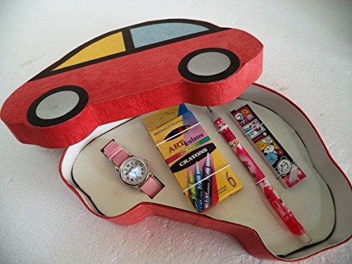 Set de Reloj de pulsera + portaminas + ceras. Ideal para regalo de Primera Comunión.