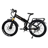 W Wallke X3 Pro26-inch Upgrade The Frame Fat Tire Electric Bicycle 48V14AH Battery Adult Auxiliary Bike 750W Mountain Snow E-Bike