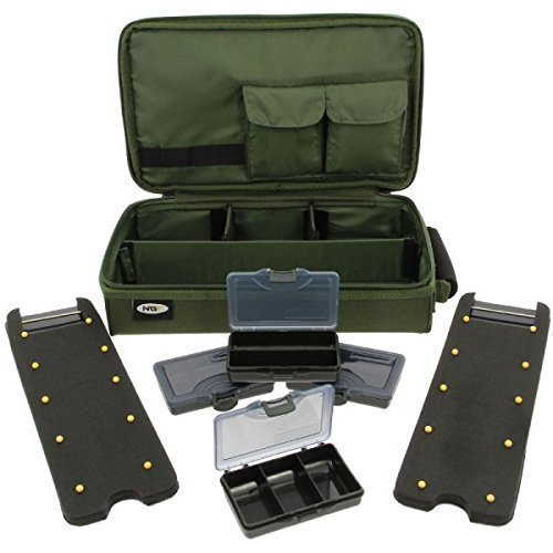 NGT Green Hair Rig Board Wallet System With Tackle Box Deluxe Carp Fishing