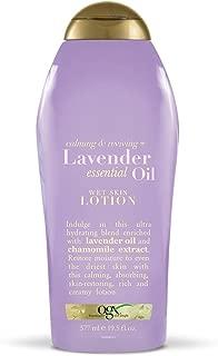 OGX Calming & Reviving + Lavender Essential Oil Wet Skin Lotion, 19.5 Fl Oz (Pack of 1)