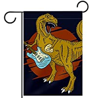 ウェルカムガーデンフラッグ(12x18in)両面垂直ヤード屋外装飾,恐竜