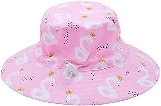 oenbopo Baby Sun Hat, Unisex Adjustable Kids Toddler Sun Hats Outdoor Beach Summer Play Bucket Hat with Chin Strap UPF 50+